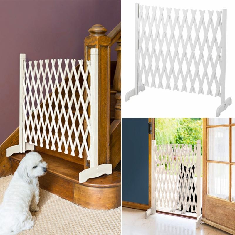 barri re extensible blanche treillis plastique animalerie. Black Bedroom Furniture Sets. Home Design Ideas