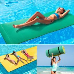 Tapis flottant 270 x 90 cm mousse spécial piscine ou mer