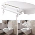 Abattant WC blanc avec frein de chute intégré