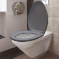 Abattant WC gris avec frein de chute intégré