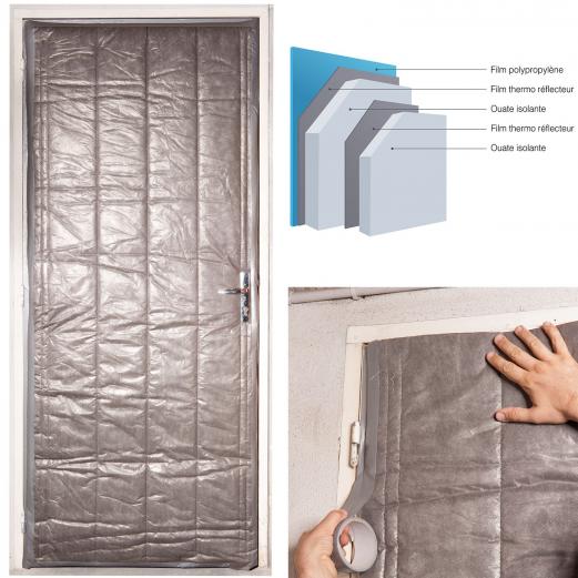 kit isolation porte de service 210 x 85 cm outillage et. Black Bedroom Furniture Sets. Home Design Ideas
