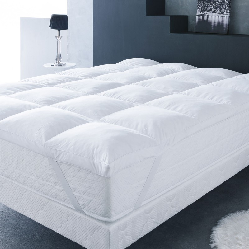 surmatelas plumes d 39 oie 160 x 200 cm anti acariens confort et literie. Black Bedroom Furniture Sets. Home Design Ideas