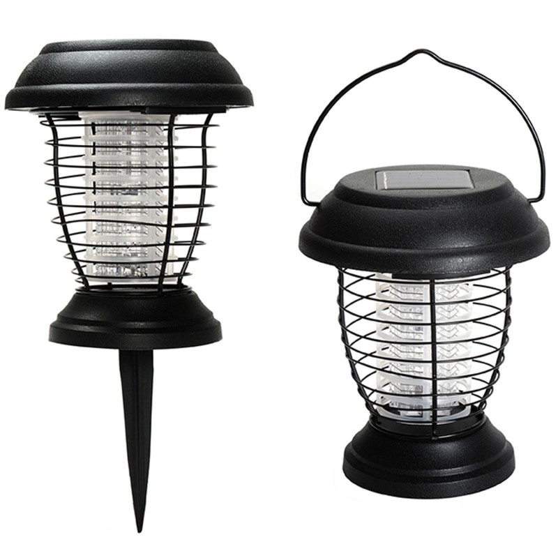 lanterne anti moustique nergie solaire 2 en 1 lampe anti insecte. Black Bedroom Furniture Sets. Home Design Ideas