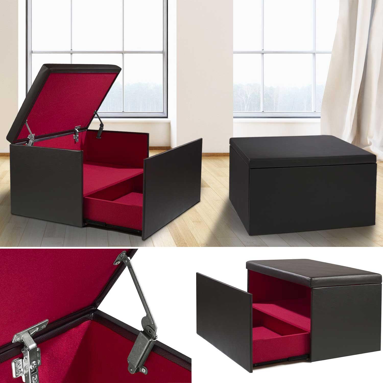 Coffre rangement banquette luxe noir spécial chaussures Accessoire...