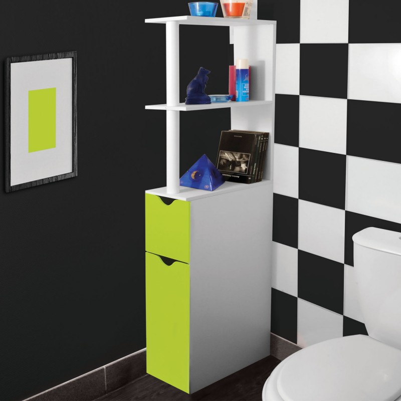 meuble wc tag re bois gain de place pour toilette 2. Black Bedroom Furniture Sets. Home Design Ideas