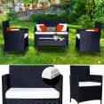Salon de jardin LISA 4 places confort résine tressée