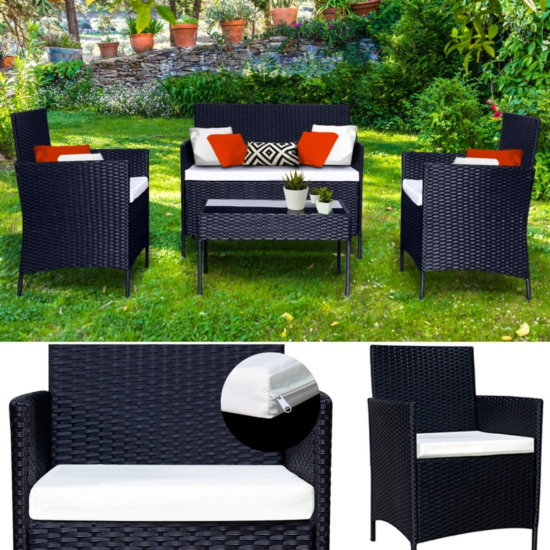 salon de jardin confortable avec les meilleures. Black Bedroom Furniture Sets. Home Design Ideas
