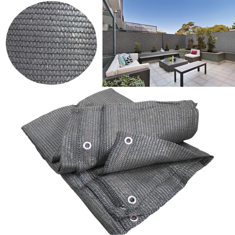 brise vue gris 1 x 10 m 90gr m classique brise vues et. Black Bedroom Furniture Sets. Home Design Ideas