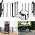 Barrière de sécurité pare-feu cheminée et grille de protection enfant