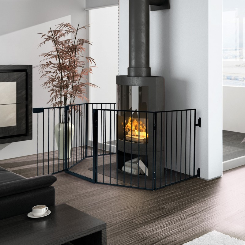 barri re de s curit pare feu chemin e et grille de ebay. Black Bedroom Furniture Sets. Home Design Ideas