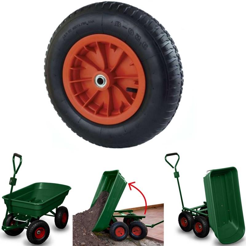roue gonflable 39 cm pour brouette axe 20mm chariots et roues de j. Black Bedroom Furniture Sets. Home Design Ideas