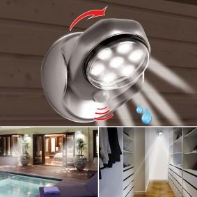 Lampe 7 leds à détecteur de mouvement orientable 360 degrés