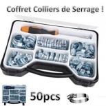 Coffret colliers de serrage 50 pcs