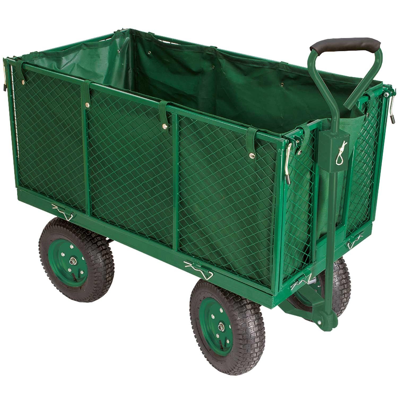 Chariot remorque de jardin tr s grande capacit 300 kg - Chariot de jardin xxl ...