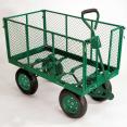 Chariot remorque de jardin très grande capacité 300 kg avec bâche