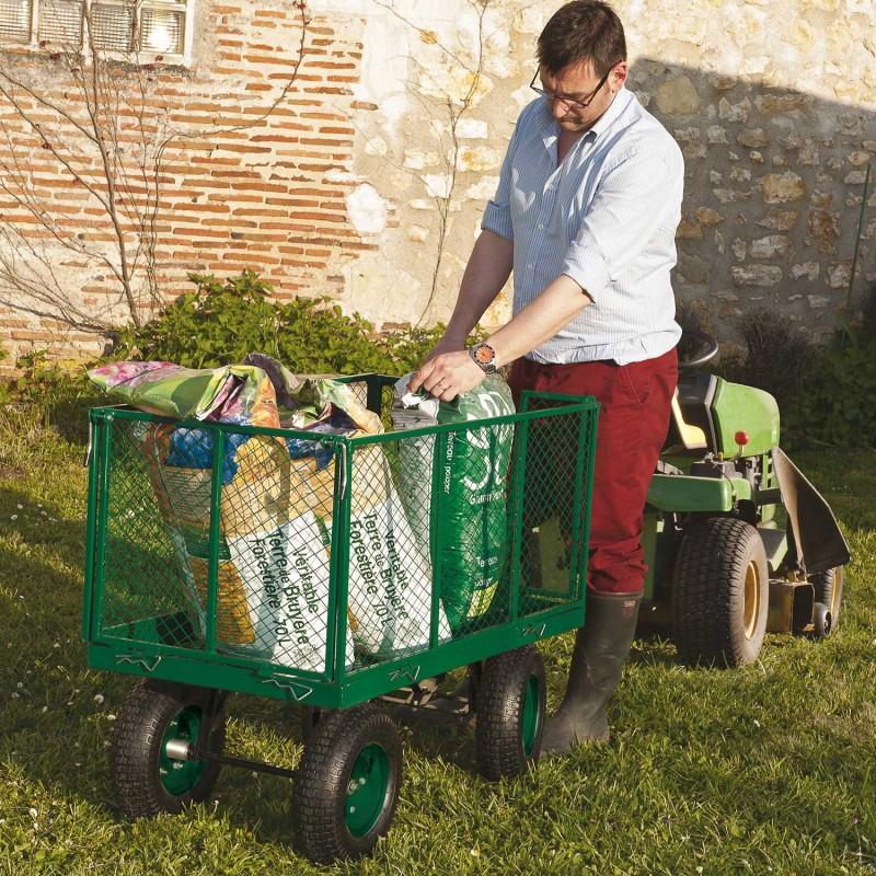 chariot remorque de jardin tr s grande capacit 300 kg avec b che. Black Bedroom Furniture Sets. Home Design Ideas