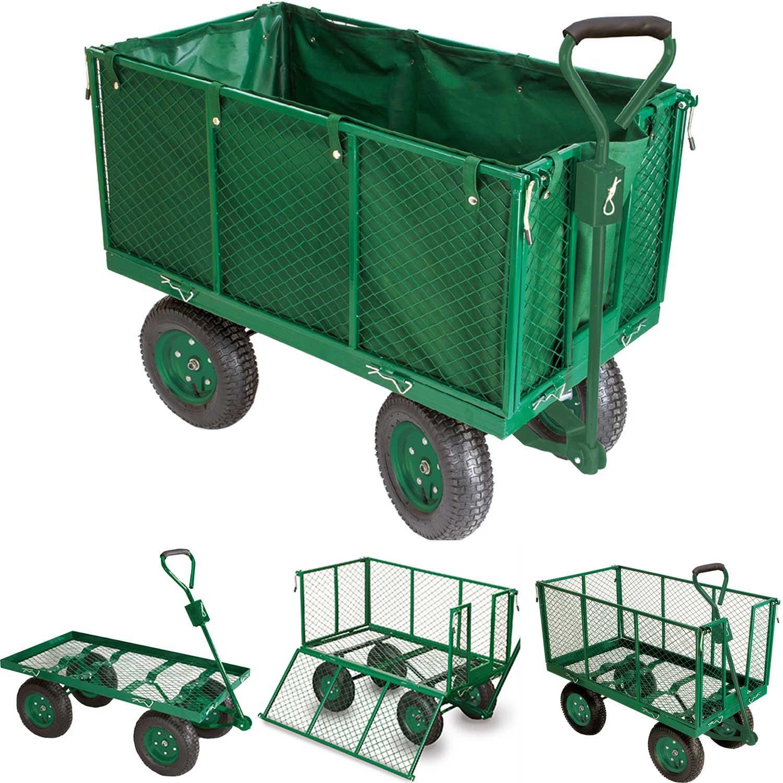 Chariot remorque de jardin tr s grande capacit 300 kg Chariot de jardin xxl