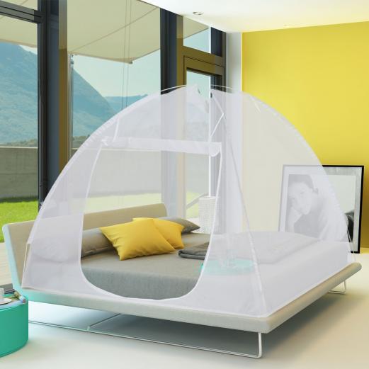 Moustiquaire dôme pop-up 195x150 cm mobile pour lit