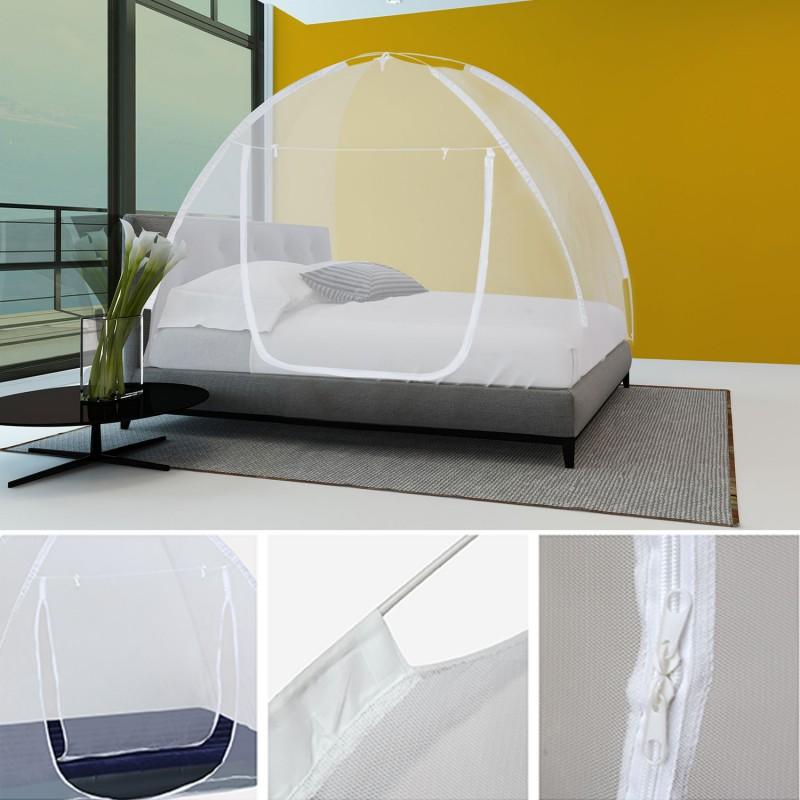 moustiquaire d me pop up 195x150 cm mobile pour lit anti moustique. Black Bedroom Furniture Sets. Home Design Ideas