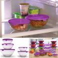 20 bols de conservation en verre+20 couvercles violets hermétiques