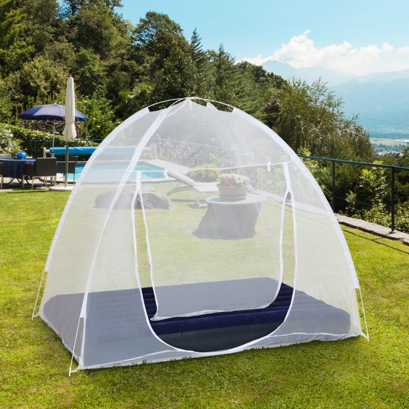 Moustiquaire d me pop up 190 x 125 cm mobile pour lit anti moustiq - Produit anti moustique pour jardin ...