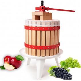 Pressoir à fruits manuel 18 litres avec levier