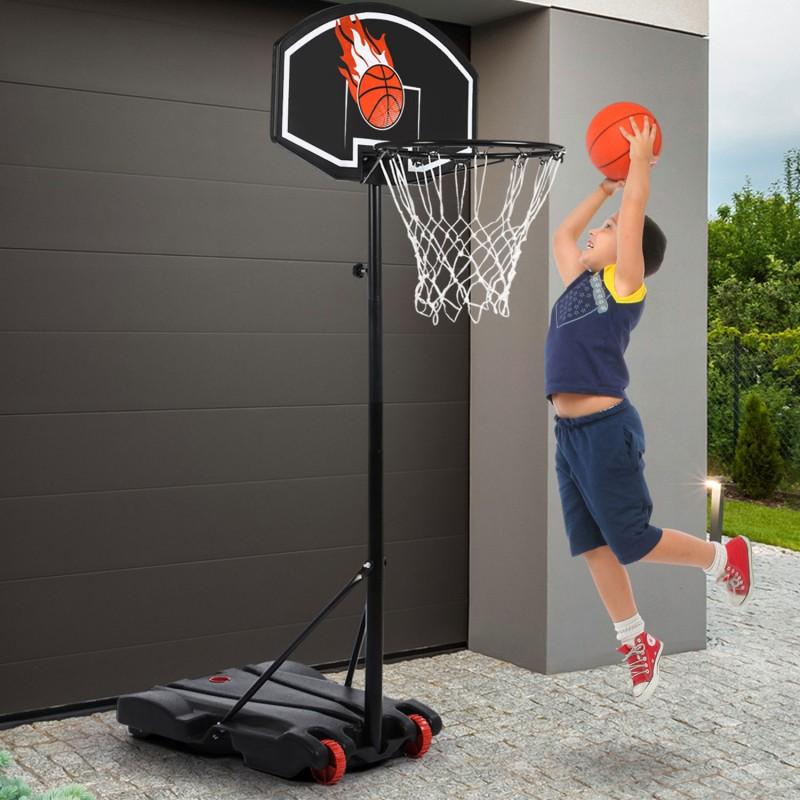 panier de basket sur pied hauteur r glable piscine et jeux. Black Bedroom Furniture Sets. Home Design Ideas