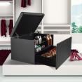 Coffre rangement banquette luxe gris spécial chaussures