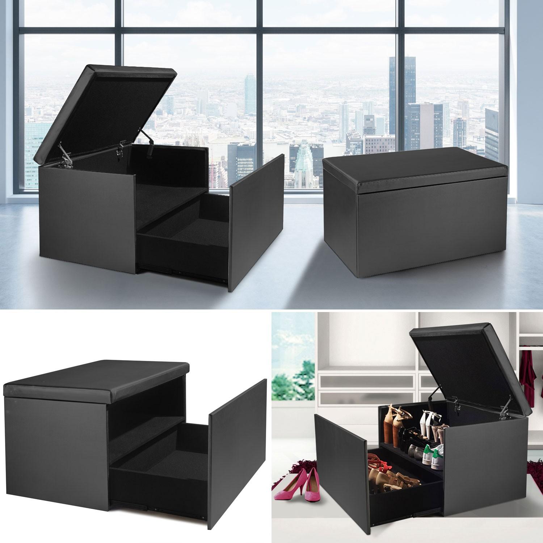 coffre rangement banquette luxe gris sp cial chaussures accessoire. Black Bedroom Furniture Sets. Home Design Ideas