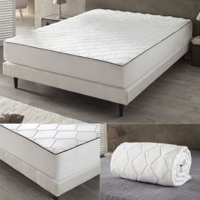 drap housse m moire de forme 180x200 cm surmatelas mousse confort. Black Bedroom Furniture Sets. Home Design Ideas