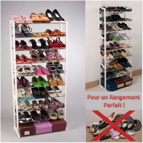 porte chaussures tag re chaussures meuble de rangement 30 paires devient. Black Bedroom Furniture Sets. Home Design Ideas