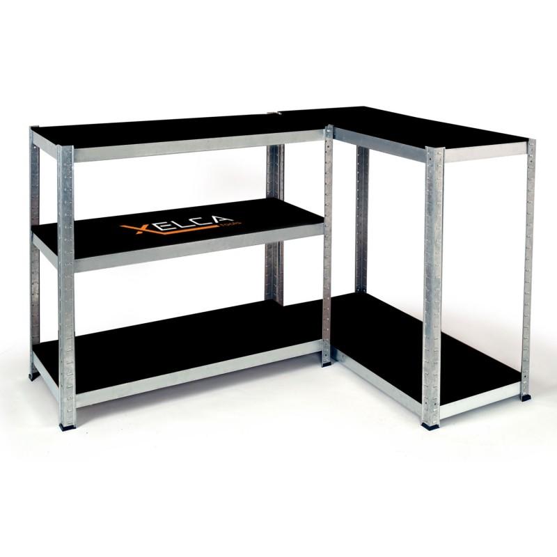 etag re pro capacit 875 kg noire et galva 5 plateaux outillage et. Black Bedroom Furniture Sets. Home Design Ideas