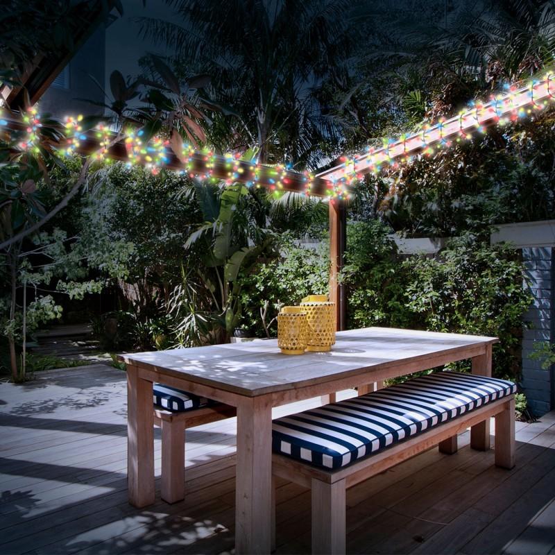 guirlande solaire 50 leds multicolores d coratives eclairage et d. Black Bedroom Furniture Sets. Home Design Ideas