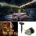 Guirlande solaire 50 leds multicolores décoratives