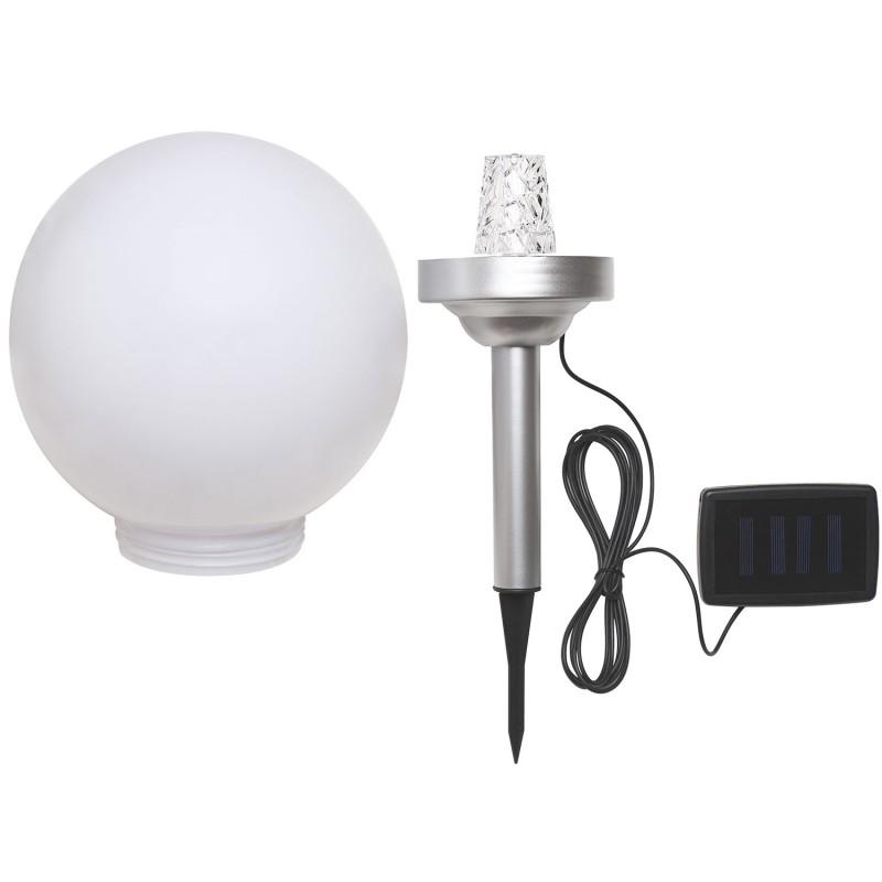 lampe boule solaire avec led rotative 25 cm eclairage et d coratio. Black Bedroom Furniture Sets. Home Design Ideas
