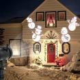 Projecteur led motifs de Noël blancs déco pour façade