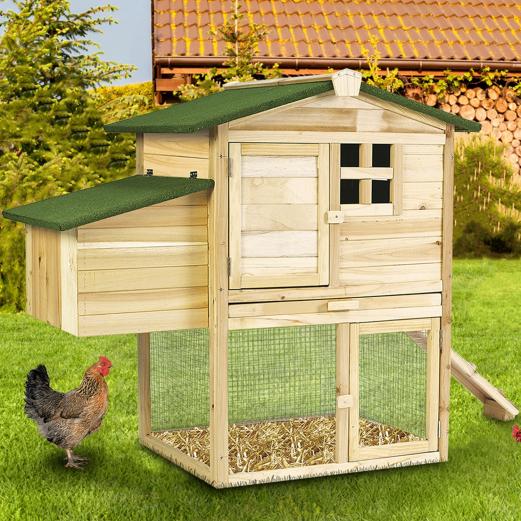 poulailler cottage avec pondoir clapier en bois animalerie. Black Bedroom Furniture Sets. Home Design Ideas