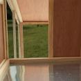 Poulailler sur 2 niveaux avec pondoir clapier en bois