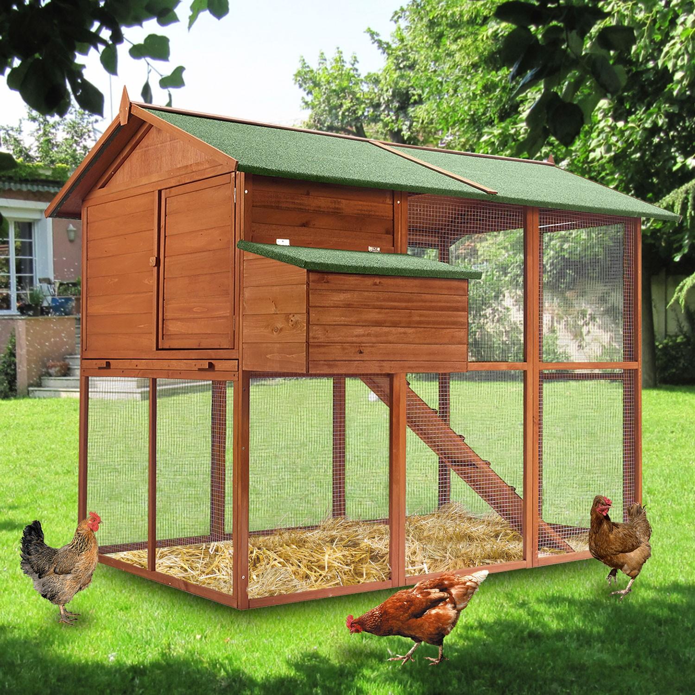 poulailler voli re duplex xxl en bois animalerie. Black Bedroom Furniture Sets. Home Design Ideas