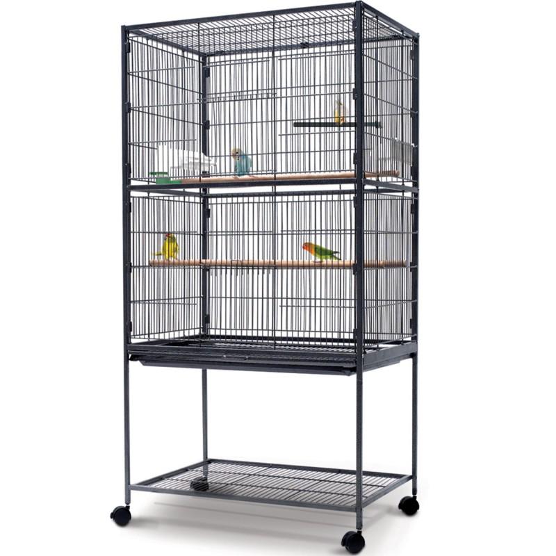 voli re xxl cage oiseaux sur roulettes pour canaris et perruches ebay. Black Bedroom Furniture Sets. Home Design Ideas