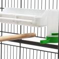 Volière XXL cage à oiseaux sur roulettes pour canaris et perruches