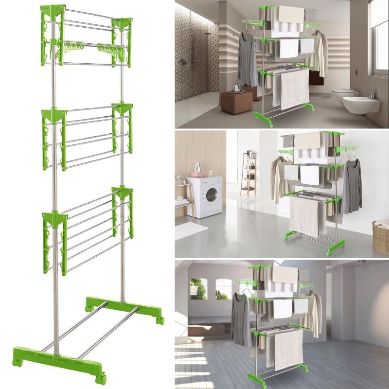 s choir linge inox maxima vert tendoir pliable linge et. Black Bedroom Furniture Sets. Home Design Ideas