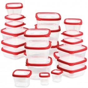 Boîtes de conservation 48 pièces rouges hermétiques