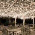 Guirlande solaire 100 boules lumineuses blanches