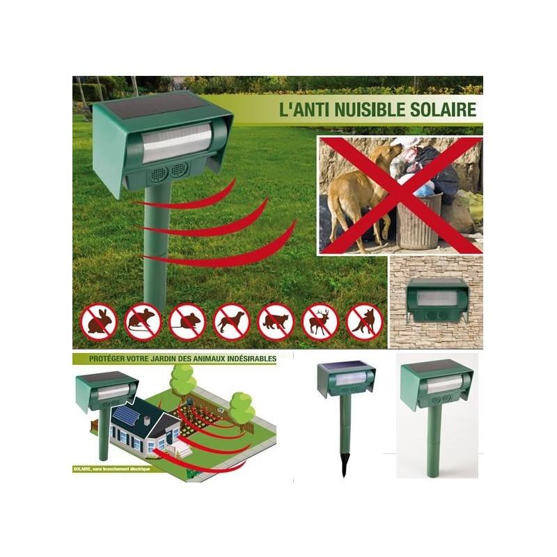 Anti nuisibles repousse nuisibles solaire 2 en 1 for Anti repousse poil maison