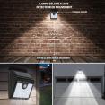 Applique 6 led solaire murale en lot x2 avec sensor