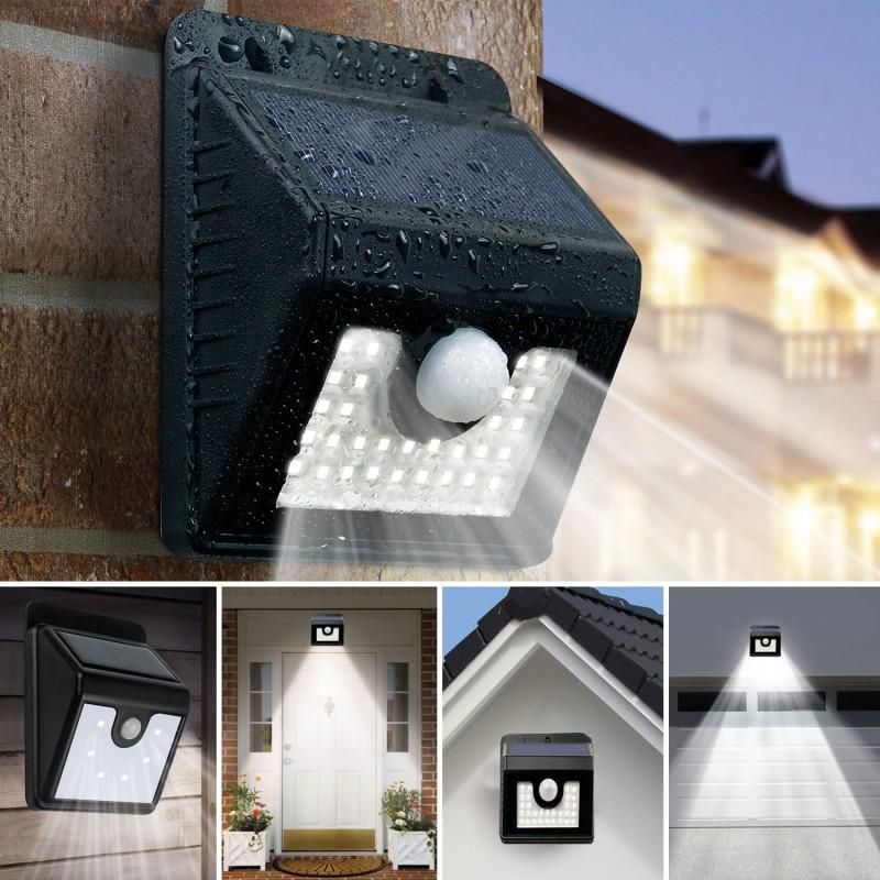 Applique 30 led solaire murale avec sensor eclairage et - Decoration murale led ...