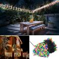 Guirlande solaire 200 leds multicolores décoratives