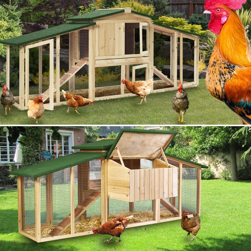 poulailler luxe xxl clapier en bois avec pondoir animalerie. Black Bedroom Furniture Sets. Home Design Ideas