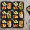 Boites déjeuners X 21 hermétiques avec couvercle
